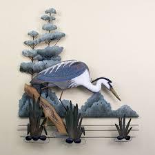 great blue heron stalking metal wall art on metal sculpture wall art birds with 16 best bird sculptures images on pinterest bird sculpture wall
