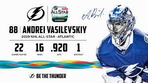 Andrei Vasilevskiy Added To 2019 Nhl All Star Game Roster