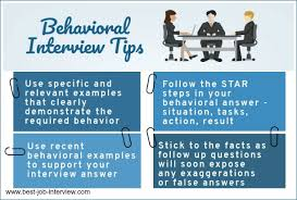 Tips For Interview Best Behavioral Interview Tips And Techniques