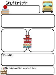 Monthly Newsletter Template For Teachers Class Monthly Newsletter Editable School Ideas Classroom