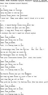 Sweet Home Alabama Chords - dietamed.info in 2020 | Sweet home alabama  lyrics, Sweet home alabama, Sweet home alabama chords