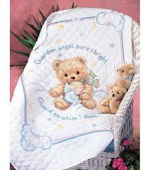Cuddly Bear St&ed Cross Stitch Quilt Kit-34 x43  | JOANN & Cuddly Bear Stamped Cross Stitch Quilt Kit-34u0022x43u0022 Adamdwight.com
