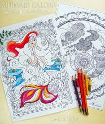 Small Picture Free Mermaid Colouring Pages for Grown Ups Red Ted Arts Blog