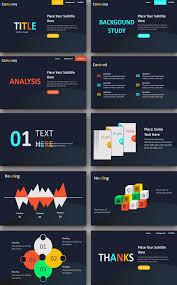 Best Report Infographic Powerpoint Template Free Alltemplatestore