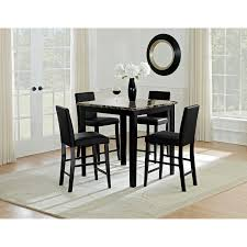 dining room drop gorgeous shadow counter height table and chairs black city furniture dining room trends