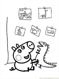 Free Printable Peppa Pig Coloring Pages Coloring Home Coloring Pages