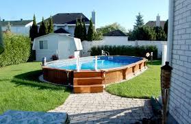 Semi Inground Swimming Pool Designs Trappan Inspiration Built In Swimming Pool Designs