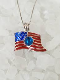 cage sterling silver american flag
