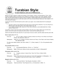 Turabian Style In Text Citations And List Of References