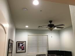 home office light fixtures. Installed 4x 6-inch 4000k LED Recessed Lights In A Home Office. Office Light Fixtures