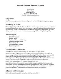 Resume Or Cv Computer Networking Career Objective Networking Engineer Resume  Objective Network Engineer Resume Sample Free