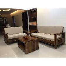 quick view wooden sofa set 3 2