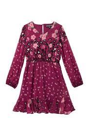 Trixxi 3 4 Length Sleeve Godet Dress Big Girls Hautelook