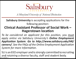 Clinical Assistant Jobs Clinical Assistant Professor Of Social Work Salisbury University