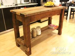 Rustic Kitchen Cart Island 11 Free Kitchen Island Plans For You To Diy