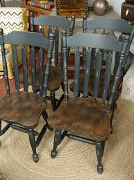 table chairs for sale. reclaimed vintage black paint early american set 4 dining kitchen chair chairs sale (call for table