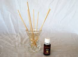 add 20 drops of your favorite essential oil and mix to combine trim reeds or skewered to desired height put 6 10 reeds in the diffuser solution