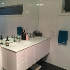 aurora white double bowl glass vanity top mm  highgrove bathrooms