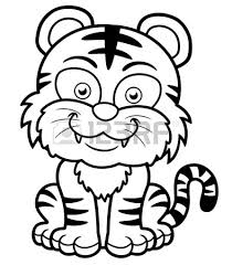 Small Picture Tiger Coloring Pages for Kids Preschool and Kindergarten