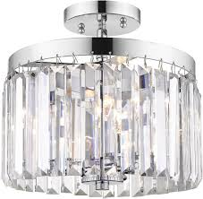 Chrome Flush Mount Ceiling Light Golden Lighting 2247 Sf Ch Paris Modern Chrome Flush Mount Ceiling Light Fixture