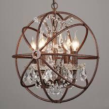 4568 lights rustic iron crystal orb sphere pendant lamp light sphere pendant r99