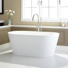 ... this freestanding acrylic tub will be the ideal addition to your  bathroom. Complete the look by pairing with a contemporary bath filler or  wall-mounted ...