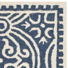 safavieh cambridge collection cam123g handcrafted moroccan geometric navy blue and ivory premium wool area rug 2