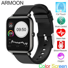 ARMOON <b>P22</b> Smart Watch Men Women <b>Full Touch</b> Fitness Tracker ...