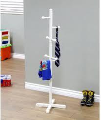 Childrens Coat Rack MegaHome 100Hook Kids Coat Rack White Easy Assembly Wood Made Hang 58