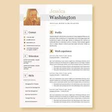Resume Templates On Microsoft Word Beauteous Creative Resume Template In Microsoft Word Cv With Modern And