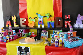 Mickey Mouse Clubhouse Bedroom Accessories Mickey Mouse Clubhouse Birthday Party Cake Table Mickey Mouse