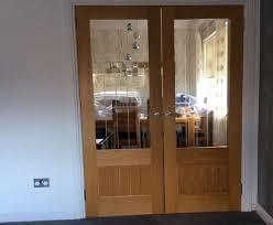 half glazed interior doors with oak frame