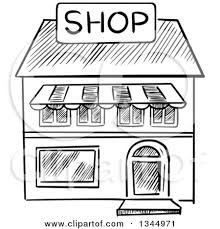 store clipart black and white. Wonderful Clipart On Store Clipart Black And White