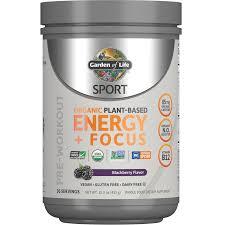 <b>Sport Organic Plant-Based Energy</b> - Blackberry - 432g | Garden of ...