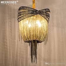 bronze modern aluminum chandelier light italian tassel design chain res lamp hanging lighting for living room foyer hanging fixtures pendant globe light