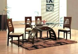 rectangular glass top dining table set 4 thanks