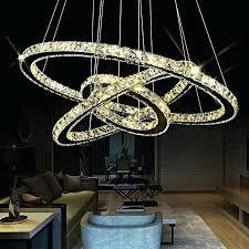 crystal lighting pendants fast shipment 3 rings modern chrome pendant lamp led hall crystal chandelier pendent crystal lighting pendants