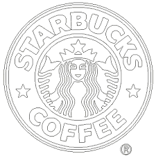 Outlined Logo Svgs Clipart Starbucks Coffee Starbucks Logo