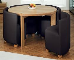 small round dining tables for spaces of with room modern glass space round space saving dining