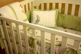 image of picture of peter rabbit crib bedding