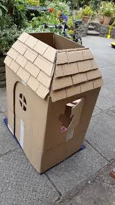picture of cardboard box to foldable playhouse
