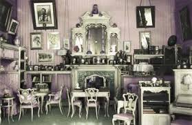 Above: Colorized Photograph Of The Mauve Room.