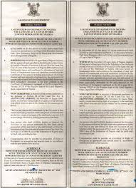Lagos State Government Notice Of Revocation Of The Right Of