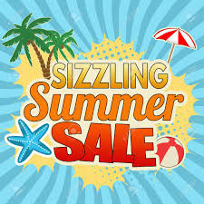 広告ポスター デザインはブルーベクトル図で焼けるように暑い夏の