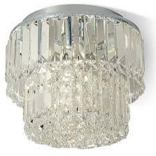 kingsley crystal flush ceiling light