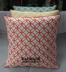 Red Decorative Pillows For Bed