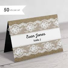 Folded Place Cards Folded Lace Place Cards