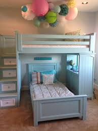A Shared Girls' Room Complete with Built-In Bunks | Sweet girls, Bunk bed  and Room