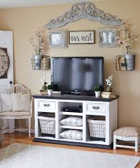 farmhouse style tv stand. Easy Farmhouse Style TV Stand Makeover And Tv