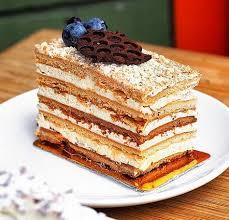 Image result for russian honey cake medovik